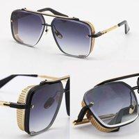 제한된 전자 D 여섯 안경 남자 금속 빈티지 고전 선글라스 패션 스타일 사각형 프레임리스 UV 400 렌즈 판매 모델 안경 남성과 여성 Adumbral
