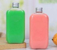 Getränk Großhandel Einweg-Haustier 400ml Einfache Transparente Dichtungskunststoff-Flaschen Fruchtsaft Milch Tee Getränke Flasche FWF6365