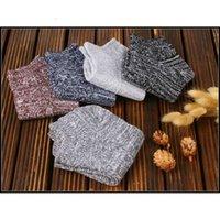 Tricott prettybaby style adulte style adulte rétro fils de laine de laine de laine simple chaussettes Couleurs épaisses SOX PT0082 # XH2P0D