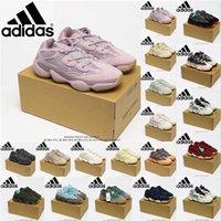 [6 gün içinde gönderilir] Çöl faresi Adidas Yeezy Boost 500 shoes vizyon kemik beyaz koşu ayakkabıları erkek bayan ay sarı kanye batı spor ayakkabı ayakkabı botları 9 #