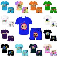 28 Colors Kids Boy Girls Cocomelon Shorts Set 4-14Y Cartoon Movie Figure Printing T shirt Tops Two Piece Outfit Casual Sports Sweat suit Sportswear Clothing G77N8OD