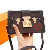 Модный бренд ретро Crossbody сумка мини-багажник чехол для женщин сумочка люкс дизайнеры кошельки Petite Malle Lady Makeup Сумки на плече 20 * 12,5 см1890