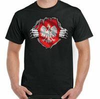 Polen Flagge T-Shirt Fußball Koszulka Polska Eagle Polnische Kit Fitnessstudio Top