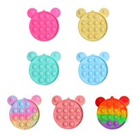 7 Style Fidget Toys Pop It Rainbow Silicone Shoulder Bag Coin Purse Stress Relief Squeeze Toys Popit Children Toy Christmas Gift