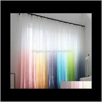 Porte-rideaux Gradient Écran d'impression American Rural Rural Rainbow Fenêtre flottante Feuille de séjour Fe7uh Wgnur