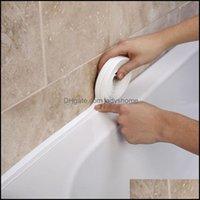 Andere Hauskee Organisation Home Garden3.4mx38mm Dusche Waschbecken Bad Dichtung Streifenband Weiß PVC Selbstklebende Wasserdichte Wandaufkleber für B