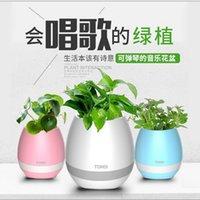 Bluetooth Smart Music Flowerpot Haut-parleur K3 Smart Touch Plant Piano Musique Pouvoir Flower avec Subwoofer Coloré Night Night Night Flower Subwoofer