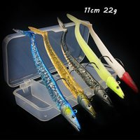 5pcs box 5 Color Mixed 11cm 22g Jigs Hook Fishing Hooks Soft Baits & Lures Pesca Tackle Accessories WA_531