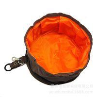 Dog Bowls Creative nylon canvas cutlery bag design foldable key chain pendant tableware WFB2