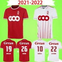 Estándar Liège Soccer Jerseys 2021 2022 Raskin R.Standard Liege 100 años Edición especial Laifis Vanheusden Carcella Maillots de Foot Amallah 21 2 Kit de camisa de fútbol
