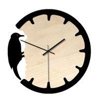 Wall Clocks Nordic Woodpecker Clock Modern Design Digital Pointer Silent Wooden For Home Living Room Reloj De Pared 9M21
