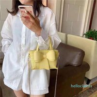 French famous designer bowknot mesh bag handbag summer leisure fashion high quality tote soft chain shoulder totes many temperament