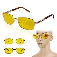 Güneş gözlüğü polarize gece görüş sarı lensler rehberlik gözlük + UV400 resina