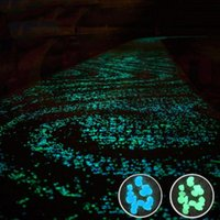 Garden Decorations 100pcs pack Glow Pebbles Stones Home Fish Tank Decoration Luminous Glowing In The Dark Accessory For Gift Dropship