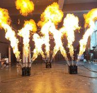 3 رؤساء النار آلة ثلاثية اللهب right dmx رذاذ التحكم 3 متر ل حفل زفاف مرحلة المرحلة ديسكو تأثيرات