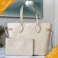 كيس جودة أعلى جودة أعلى جودة حمل سعة كبيرة تنقش الجلود الكتف حقيبة يد مع صندوق B002 (45684 45685 45686) Bag0001
