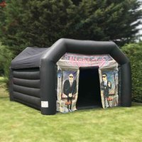 free door ship commercial 6x4m inflatable night club tent bouncy pub tents shelter for outdoor party rental