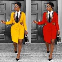 Ethnic Clothing Elegant African Design Dashiki Dress Suits Leopard Slim Office Muslim Bazin Maxi Robe Gowns Broder Riche Sexy Lady Evening P