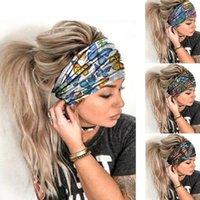 Frauen Yoga Sport Stirnband Designer Milch Seide Schmetterling Floral Gedruckt Breite Haarbänder Outdoor Fitness Haarschmuck