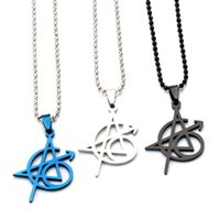 Pendant Necklaces Classic Design 316L Stainless Steel Initial Letter A Team Tattoo Ship Magical Steves Men Women Amulet Jewelry Gift