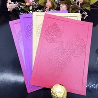 Greeting Cards Laser Wedding Invitation Romantic Card 10Pcs pack Table Place Decor Favors Party Suppies Decoration Color 8ZSH195-10