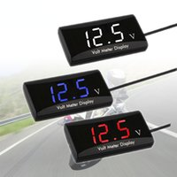 Motorcycle instrument is suitable for voltage detection of modified automobiles, locomotives and electric vehicles, on-board LED ultra-thin high quality voltmeter