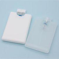 Kart şekli parfüm sprey şişeleri 20 ml pp plastik boş kozmetik konteyner doldurulabilir atomizer parfüm şişesi