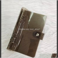 Party Favor A6 Polychromatic Binder Circle Ring Holes Pvc Notebook Cover Waterproof Creative Portable Travel Handbook Outer Casing Ewe Qj1Wu
