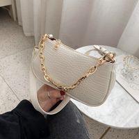 Luxurys Designers Bags Crocodile Pattern Baguette bags MINI PU Leather Shoulder Bags For Women Chain Designer Luxury