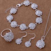 Orden mixta de calidad superior de la calidad 925 Juegos de joyería plateada de plata regalos de Navidad para las mujeres DFF0727