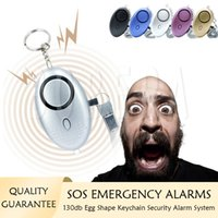 Alarmes d'autodéfense 130DB Système d'alarme de porte-clés forts Fille Femmes Protect Alert Sécurité personnelle Sécurité des urgences Systèmes de sécurité d'urgence