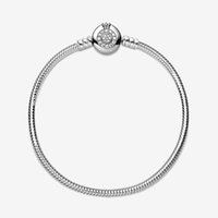 Femme s925 Sterling Silver Bracelets For Women Fit Pandora Beads Charms Crown Cubic Zircon Fashion Basic Snake Chain Bracelet With Original Box Lady Gift