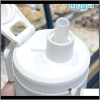 Kitchen, Dining Bar Home & Gardendaisy Frosted St Glass Water Bottle Fashion Large Capacity Outdoor Sports Portable Studen Drinkware Tour Bot