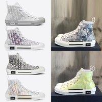 2021 B23 B22 B24 Tasarımcı Sneakers Obliques Teknik Deri Yüksek Düşük Çiçekler Platformu Açık Rahat Ayakkabılar Vintage Boyutu 36-45
