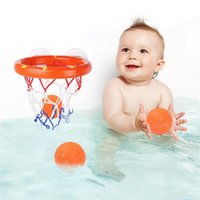 Pool & Accessories Toddler Bath Toys Kids Shooting Basket Bathtub Water Play Set For Baby Girl Boy With 3 Mini Plastic Basketballs Funny Sho