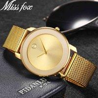 Designer Lusso Brand Orologi MissFox Donne Top Classic Design Semplice stile moda Signore ES impermeabile Dropshipping Wrist
