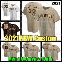 23 Fernando Tatis Jr. 샌 맞춤형 디에고 야구 Padres Jersey 13 Manny Machado Tatís Tony Gwynn Wil Myers Eric Hosmer Yu Darvish Blake Snell Jake Cronenworth Mens Women