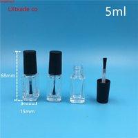 5ml claro lucency vidro esmalte polonês garrafa vazia com pouca escova cosmético recipientes de baixo qty
