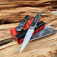 """Kershaw 7150 Launch 8 Автоматический складной нож 3.5 """"Coneenwashed CPM-154 Копьяный лезвие, темно-серые анодированные алюминиевые ручки углеродного волокна"""