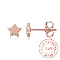 Stud 100% 925 Sterling Silver 2021 Women Jewelry Fashion Cute Tiny Star Earrings For Daughter Girls
