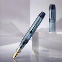 Penne fontana 1pc Transparent Grande Capacity Pen Geyedropper Riempimento con un convertitore EF / F Nib Set di confezione regalo d'inchiostro di alta qualità