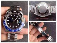 BP 메이커 최고 품질의 시계 40mm GMT Batman 116710 116710BLNR 사파이어 세라믹 아시아 2813 ETA 2836 CAL.3186 운동 자동 망 시계 남자 손목 시계