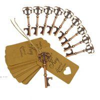 Ospiti Favore Opener Bottle Opener Wed Regalo Souvenir Forniture per feste Key con la catena Novelty Ciondolo Decorazione di nozze GWE10237