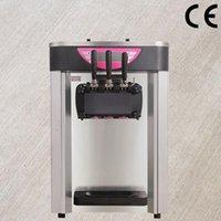 Ice Cream Making Machine 18-22L H Three Color Desktop Electric Rainbow Soft Maker 110V 220V