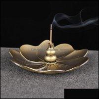 Sachet Taschen Düfte Dekor Home GardenUnsense Brenner Sticks Halter Teller Buddhismus Spule Kreative Lotus CENSER 2 Farben Drop Lieferung 2021