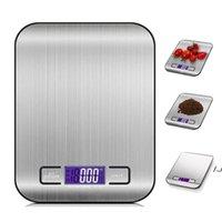 5000G / 1G LED 전자 디지털 주방 비늘 다기능 식품 스테인레스 스틸 LCD 정밀 쥬얼리 규모 무게 균형 DWA5558