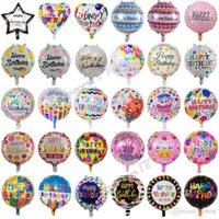18 pulgadas inflable fiesta de cumpleaños globos decoraciones burbuja helio lámina globo niños feliz cumpleaños globos juguetes suministros