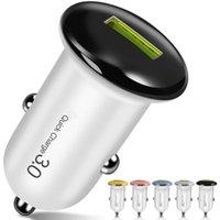 5V 3A QC3.0 Mini Fast Quick USB Автомобильные зарядные устройства адаптеры для iPhone 11 12 Samsung S10 S20 HTC