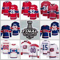 Hombre niños mujer hockey montreal canadiens 34 Jake Allen Jersey 94 Corey Perry 15 Jesperi Kotkaniemi 92 Jonathan Drouin 21 Eric Staal 26 Jeff Petry Stanley Cup Final