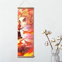 HotSale Demon Slayer Cartel de lona Adorno Japonés Decoración de Decoración de desplazamientos Pinturas de pared Arte de la pared Decoración de la casa Imágenes para sala de estar con marco